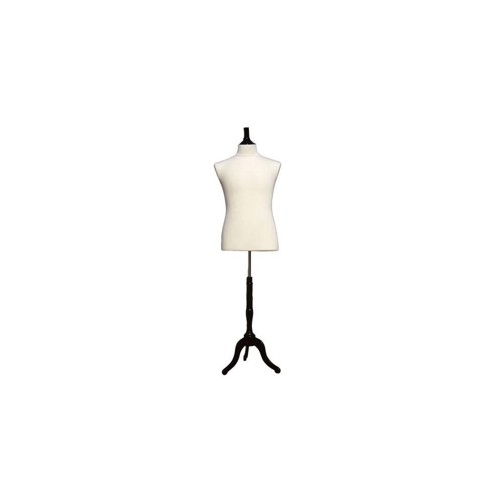 mannequin buste homme en tissu jersey. Black Bedroom Furniture Sets. Home Design Ideas