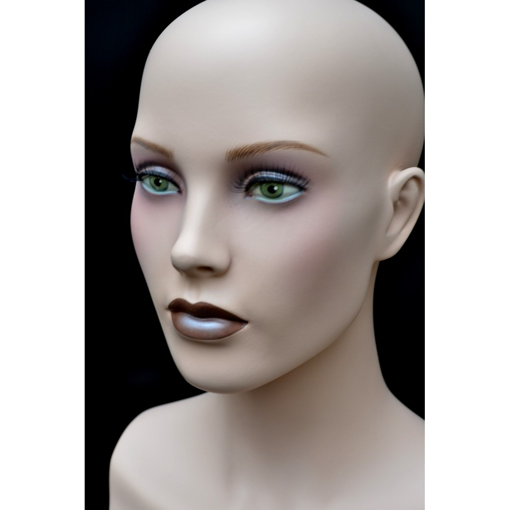 Célèbre tete mannequin femme pour perruque UN52