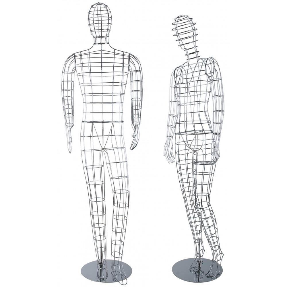 Mannequin en fil chrome design