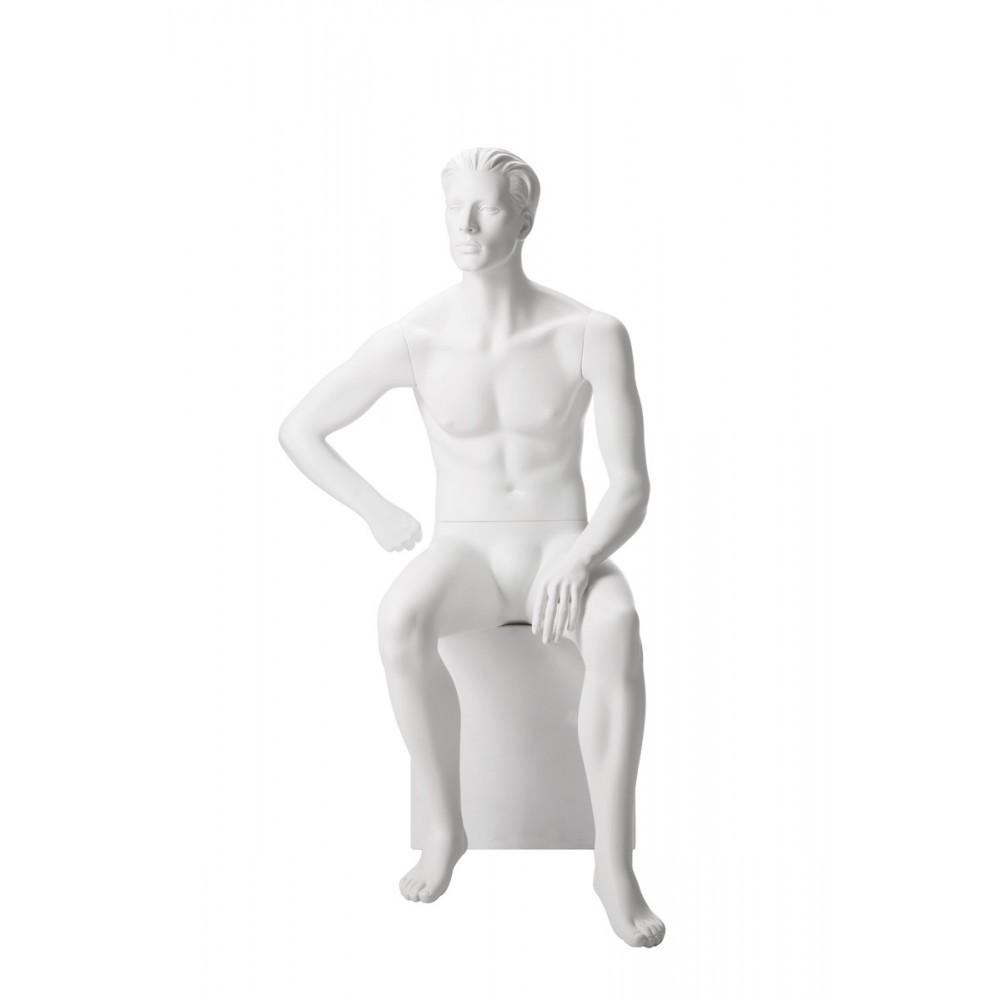 Mannequin homme assis décoration magasin