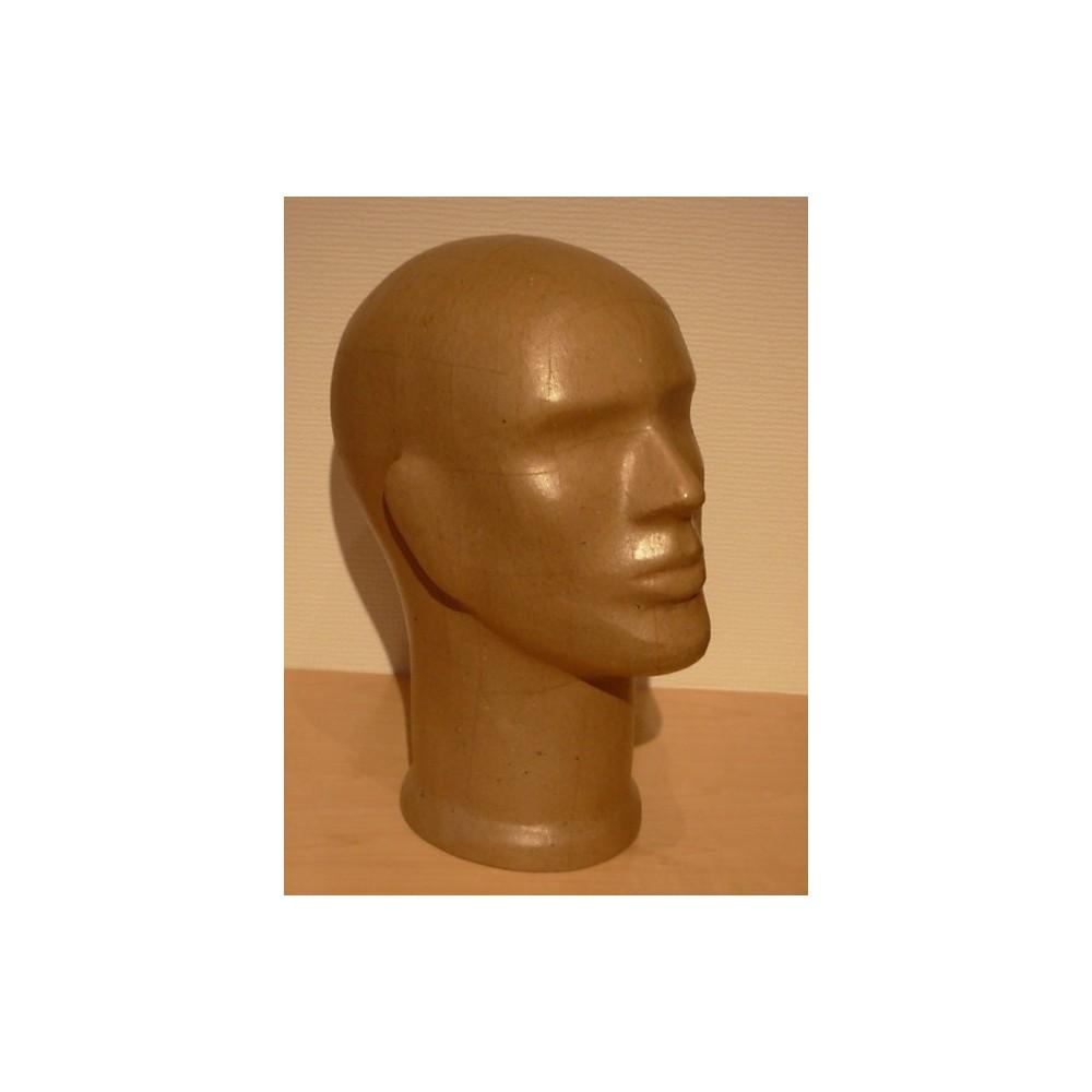 tete mannequin homme pour casque chapeau ou perruque. Black Bedroom Furniture Sets. Home Design Ideas