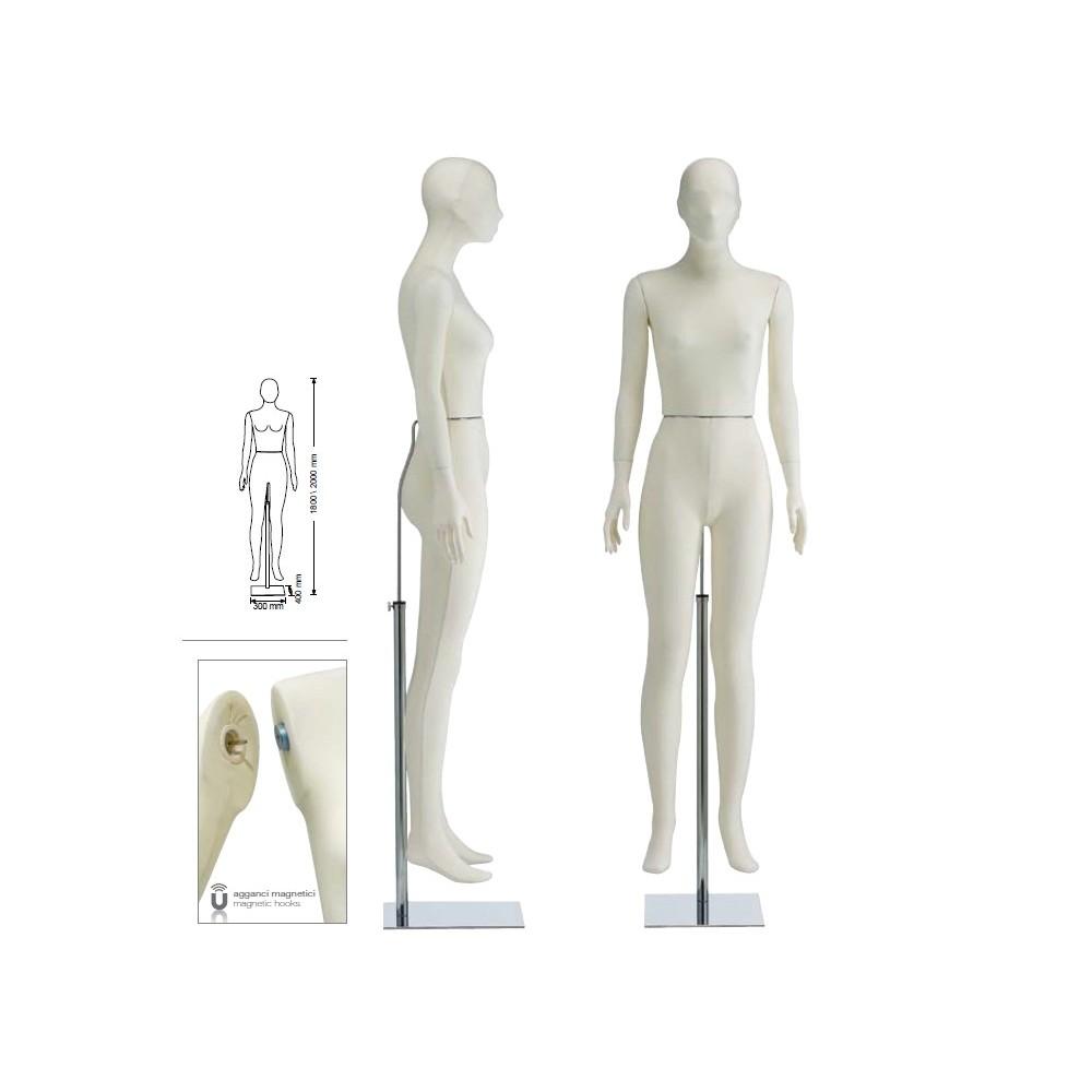 Femme mannequin en tissu