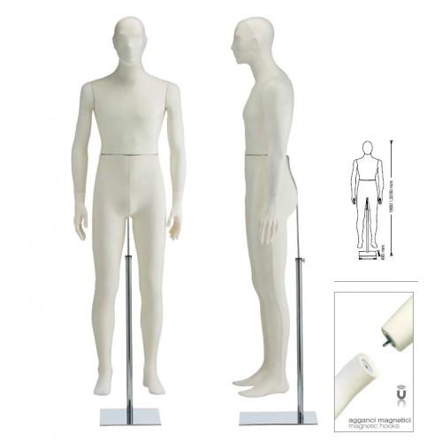 Homme mannequin en tissu