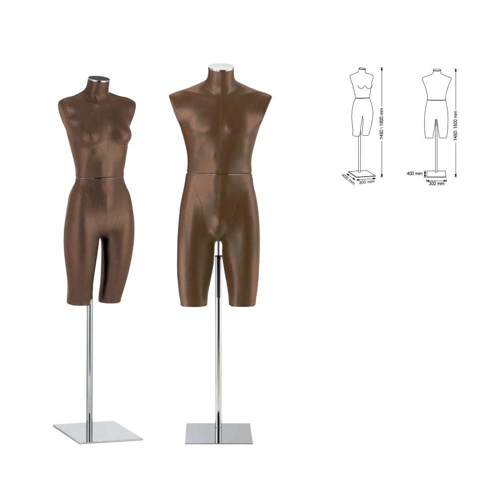Mannequin torso lingerie en tissu
