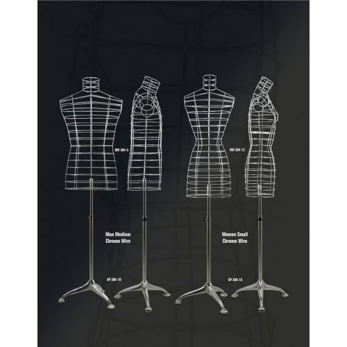 Mannequin torso en fil chrome design