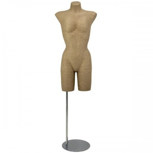 Mannequin buste femme en rafia