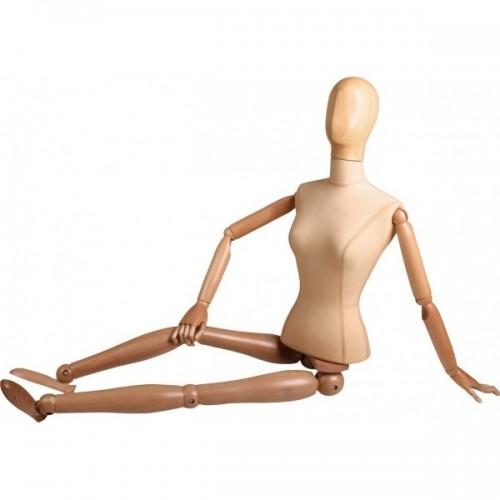 Mannequin femme bras et jambes en bois