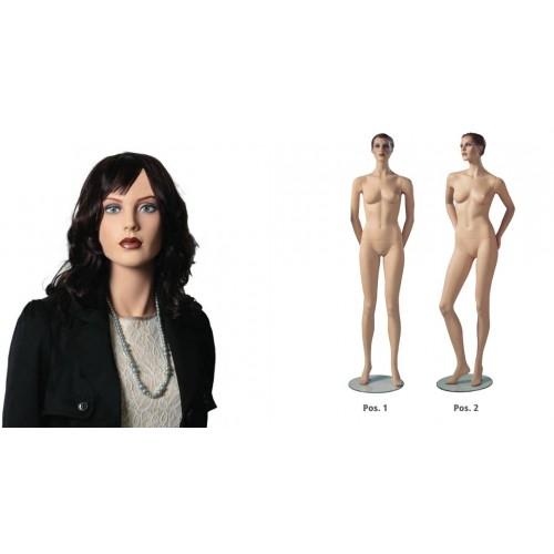 Mannequin femme avec maquillage