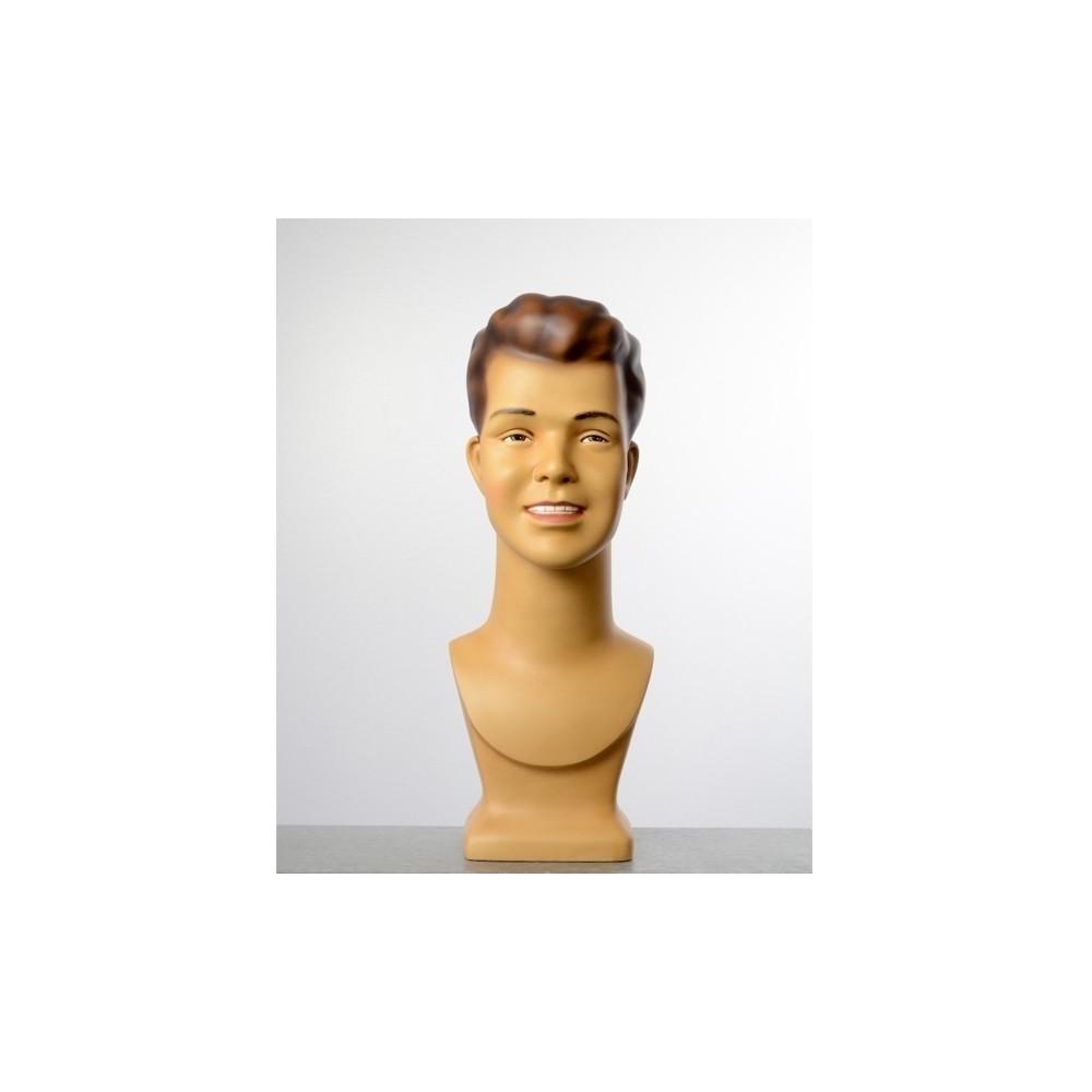 Tete de mannequin homme vintage avec maquillage