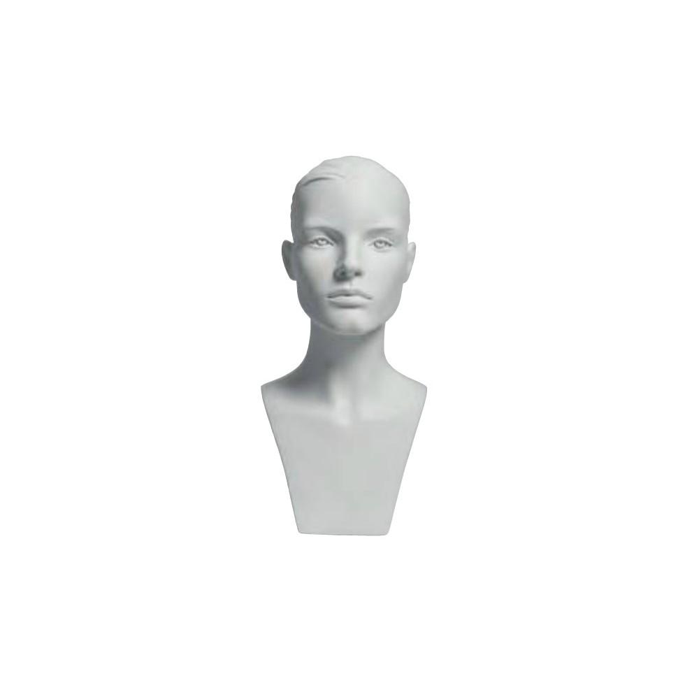 Tete mannequin femme pour casque