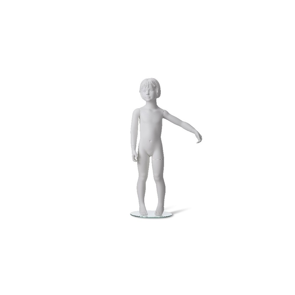 Mannequin enfant tête stylisée blanc