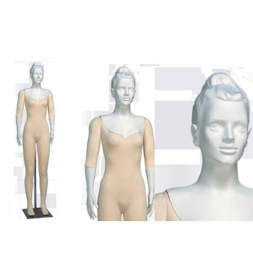 Mannequin femme flexible décoration magasin