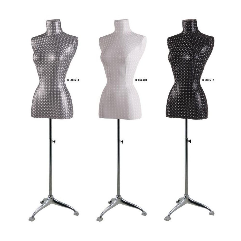 Mannequin buste femme tissu