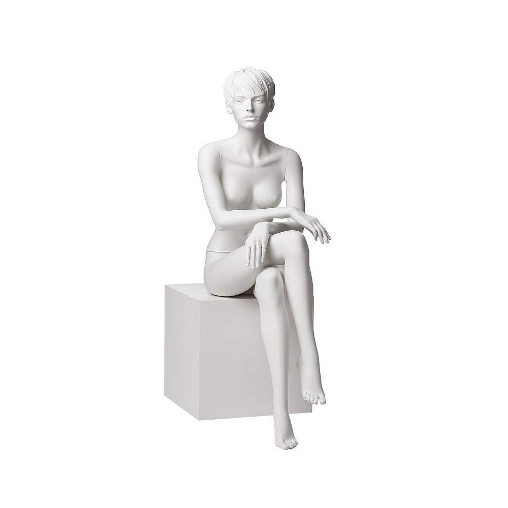 Mannequin femme assis