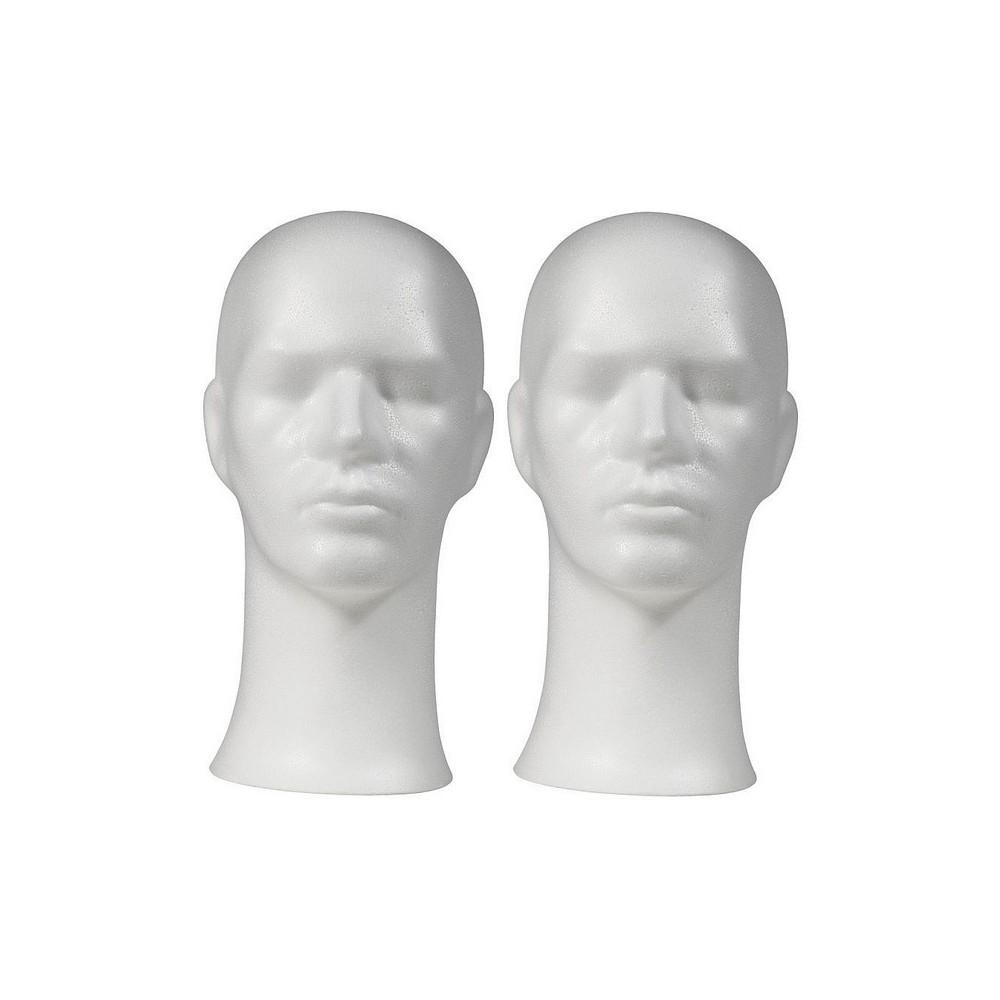 2 Tetes mannequin homme pour casque
