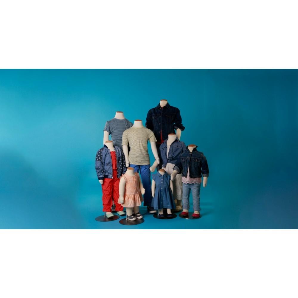 Mannequin enfant flexible décoration magasin