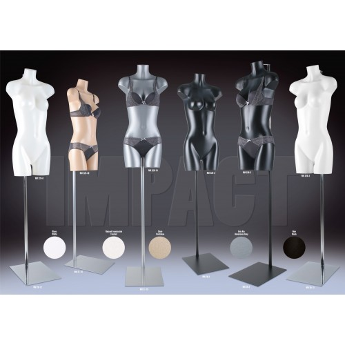 Mannequin torso femme incassable made in France