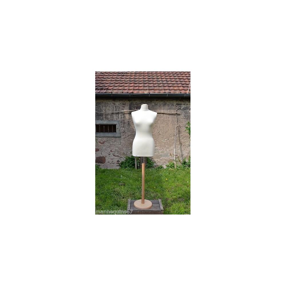 Mannequin buste femme en tissu jersey