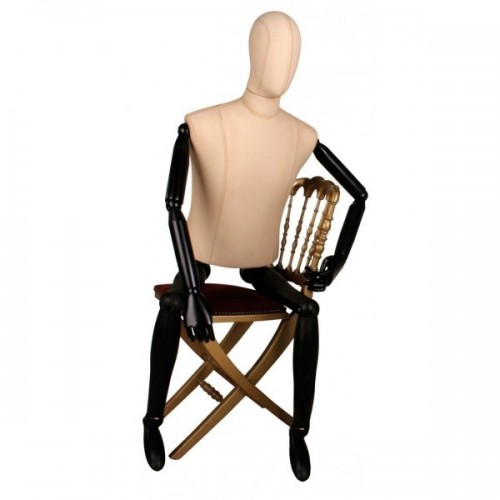 Mannequin homme bras et jambes en bois